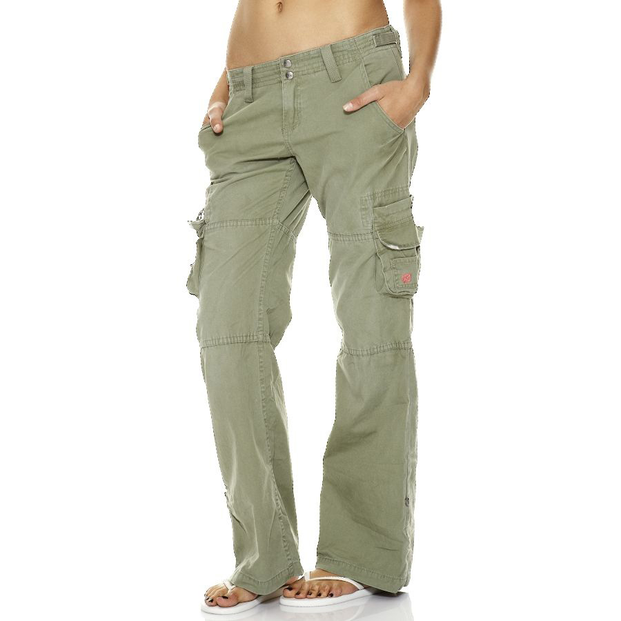 Ladies Green Cargo Pants